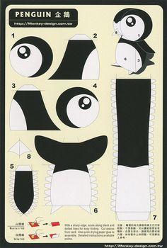 Penguin - Cut Out Postcard