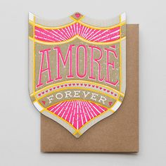 Die-Cut Letterpress Amore Forever Card