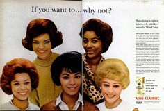 Vintage African American Clairol add.