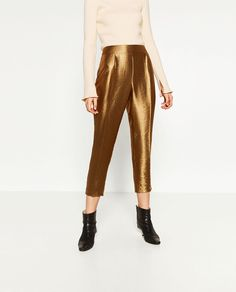 ZARA - WOMAN - SHINY TROUSERS