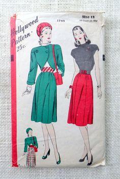Vintage Simplicity 1749 dress pattern by momandpopcultureshop