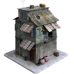 A Model of a building designed inside and out in the style of a Middle Eastern or African Town or City in a country such as Iraq, Syria, Afghanistan, Nigeria etc. Modelled to the highest standards for real-time game levels or visualisations built to a Game Environment, Environment Concept Art, Environment Design, Apocalypse Art, Apocalypse Survival, Arte Robot, Modelos 3d, 3d Studio, 3d Home