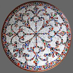 Mosaic Artwork of Karen Strapp - Finger Lakes Artist. Featuring Mosaic plaques made from vintage china, glass tiles, found objects. Mixed media with jewelry.