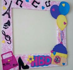 Marcos para fiestas y eventos Picture Booth, Photo Booth Backdrop, Photo Props, Photo Frame Prop, Photo Frame Design, Photo Booths, Fifties Party, Birthday Cake Girls, Diy Birthday