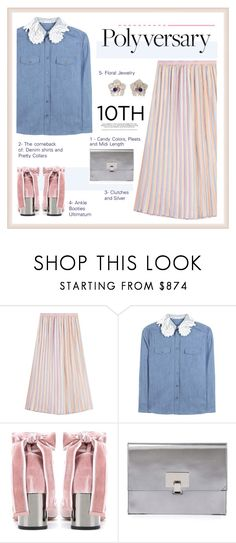 """""""Celebrate Our 10th Polyversary!"""" by cutekawaiiandgoodlooking ❤ liked on Polyvore featuring Marco de Vincenzo, Miu Miu, Valentino, Proenza Schouler, Bounkit, polyversary and contestentry"""