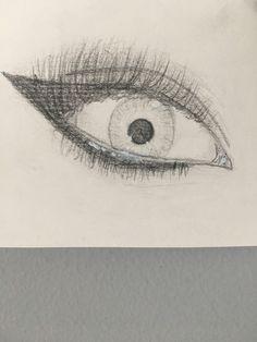 Ojo dibujado a lápiz