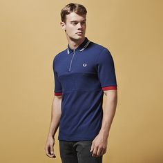Fred Perry Bradley Wiggins Zip Textured Polo Shirt  4a53d915d