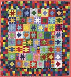 National Quilt Day on March 19th has inspired us to focus our blog projects this week on just that…quilting. What better place to pick a quilt, than from a collection of favorites by uber-talented quilters and teachers. Sun Ray by Alex Anderson is just one of 19 amazing quilt projects that can be found in Quilter's Favorites—Pieced Points & Stars. This fun quilt with stripes, dots and solids is sure to brighten and add pizzaz to anyone's world.