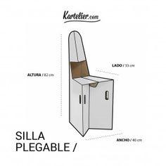 Kartelier | Muebles de cartón - Silla plegable de cartón