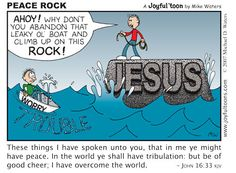 on Christ the solid Rock I stand... I actually have a similar thing to this as an analogy (?) to show what life is like living with or against Christ
