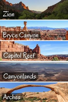 Utah's National Parks in 50 Photos A bunch of photos of Zion, Bryce Canyon, Capitol Reef, Canyonlands and Arches National Parks.