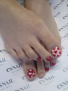 valentines day toenails