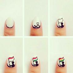 kurdish flag nail design kurdistan - #girl - #nail flag