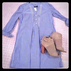 Gap Shirtdress Blue and white Shirtdress from Gap. New with tags. GAP Dresses
