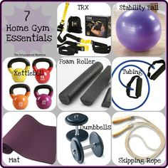 7 home gym essentials. hmmm...