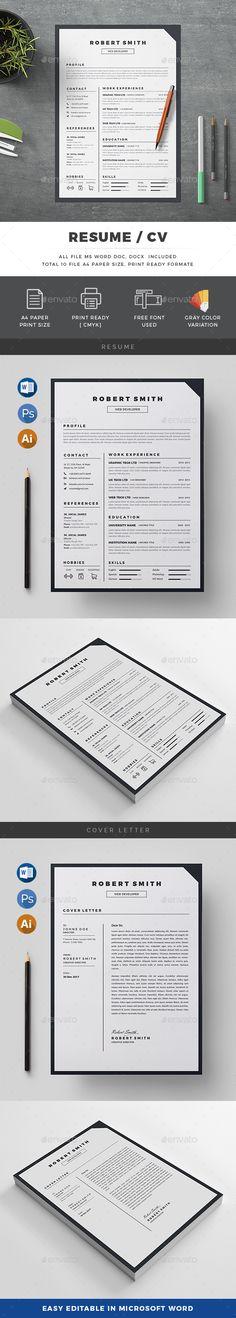 15 Free Elegant Modern CV \/ Resume Templates (PSD) Graphic - resume template psd