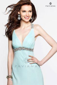 Mint Blue long formal dress