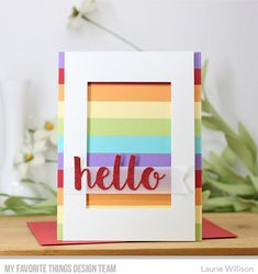 Die-namics: Hello There, Stitched Fishtail Sentiment Strips — Laurie Willison #mftstamps