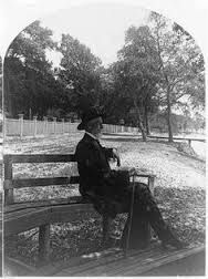 Jefferson Davis at his home Beauvoir in Biloxi, Mississippi on the Mississippi Gulf Coast