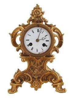 Nineteenth-century French ormolu mantle clock