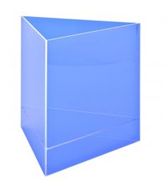 Boîte de présentation triangulaire, bleu