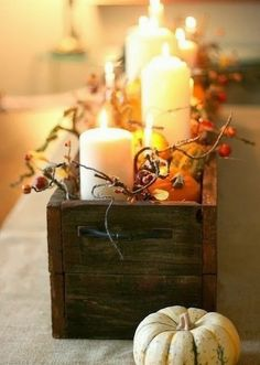 Decorating with Pumpkins and Candles for Fall | HAMPTONS STYLE