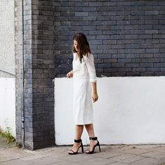 Inspiring Street Style Outfits To Try For Summer via @Who What Wear Girlalamode is wearing: Joseph shirt; Zara skirt; Topshop heels.