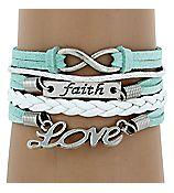 #L-BRC-RMK-886 -WAM Multi-Strand Faith, Love and Infinity Bracelet – Charmed and Company Creations Rep#5032