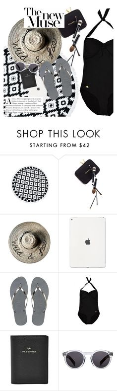 """""""the new muse"""" by sanddollardubai ❤ liked on Polyvore featuring Guide London, Havaianas, Sunseeker, FOSSIL and Illesteva"""