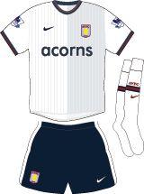 Aston Villa Football Kits Away Kit 2009-2010