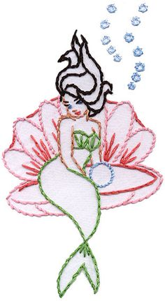 Mermaid embroidery pattern free google search embroidery crafty easy embroidery patterns emilystyle dt1010fo
