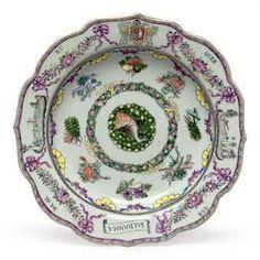 Enameled Portuguese Soup Plate, circa 1765