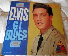 Elvis Presley G.I. BLUES LP RCA LPM 2256 Mono No Sticker Long Play On Label #FilmScoreSoundtrack