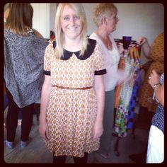 Lots of fun had at this home party - this customer looks lovely in this print dress...