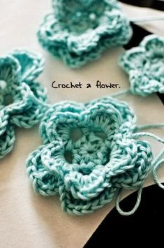 Crochet flower - free pattern by Mary Renaud