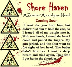I hit the 1,000 word mark just after the contractors left. I should keep writing, but I want to clean up a little and cook supper, so I'm done for the day.  Enjoy this snippet from Shore Haven. #shorehaven #wip #zombie #apocalypse #jenniferreynolds