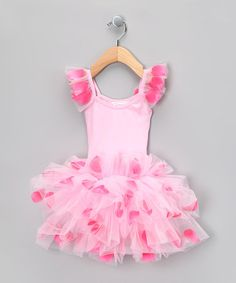 Take a look at this Pink Flower Petal Skirted Leotard - Toddler & Girls by Popatu by Posh on #zulily today!