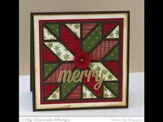 Quilt Square Cover Up Die-namics from My Favorite Things - YouTube #mftstamps