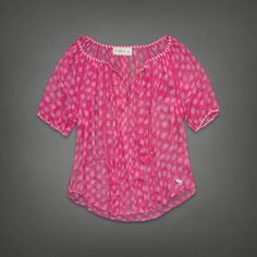 Patterned Top   #ABERCROMBIEHOT  Abercrombie.com love it have it! Awesome outfit with a cami