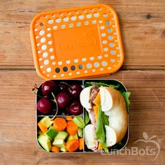 The perfect to-go healthy snack, made better. Ditch the plastic and pack your bagels, cherries, and veggie medley in safe LunchBots containers. Only stainless steel touches your food. #backtoschool #lunchbots