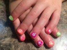 Little girl nail art gel polish Little Girl Nails, Girls Nails, Kid Nails, Cute Nails, Girls Nail Designs, Toe Nail Designs, Nail Polish Designs, Gel Polish, Lexi Nails
