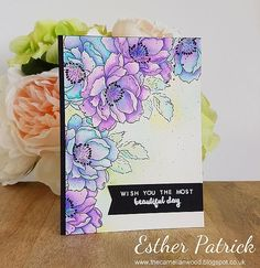 A watercolour birthday card using Altenew Beautiful Day By Esther Patrick Altenew Beautiful Day Cards, Beautiful Birthday Cards, Beautiful Handmade Cards, Watercolor Birthday Cards, Watercolor Cards, Cool Cards, Diy Cards, Card Making Inspiration, Making Ideas