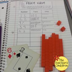 Place value with cards, tens, and ones