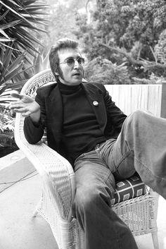We All Live In A Yellow Submarine,Yellow Submarine — karinabeat: John Lennon by Tom Zimberoff, 1973