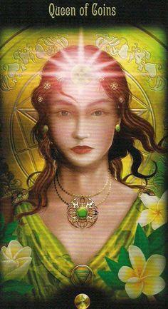 ☆ Queen 0f Coins » From: Legacy of the Divine Tarot :¦: Artist Ciro Marchetti ☆