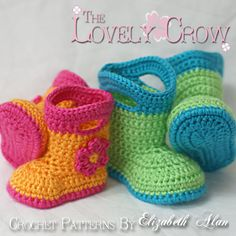 Booties Crochet Pattern Baby Rainboots for Baby von ebethalan