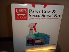 Griots Garage Car Care Kit Paint clay Speed Shine Hand Polish Best of Show Wax #GriotsGarage