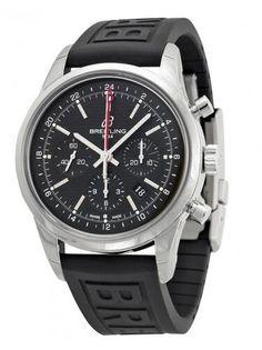 Breitling Transocean Chronograph GMT Black Dial Black Rubber AB045112-BC67BKPD3