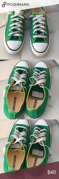 NWOT GREEN SIZE 8 women sz 6 men converse NWOT SIZE 8 women 6 men green converse extra super cute Converse Shoes Sneakers