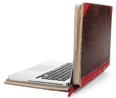 """Twelve South """"BookBook"""" Leather Case for MacBook Pro. I have this Hardback leather case for my Macbook Pro. Besides being very protective, it's also stylish and people love to look at it when you take it out. Mac Laptop, Apple Laptop Cases, Macbook Pro Case, Laptop Bag, Apple Computer, Computer Case, Computer Sleeve, Apple Mac, Red Apple"""